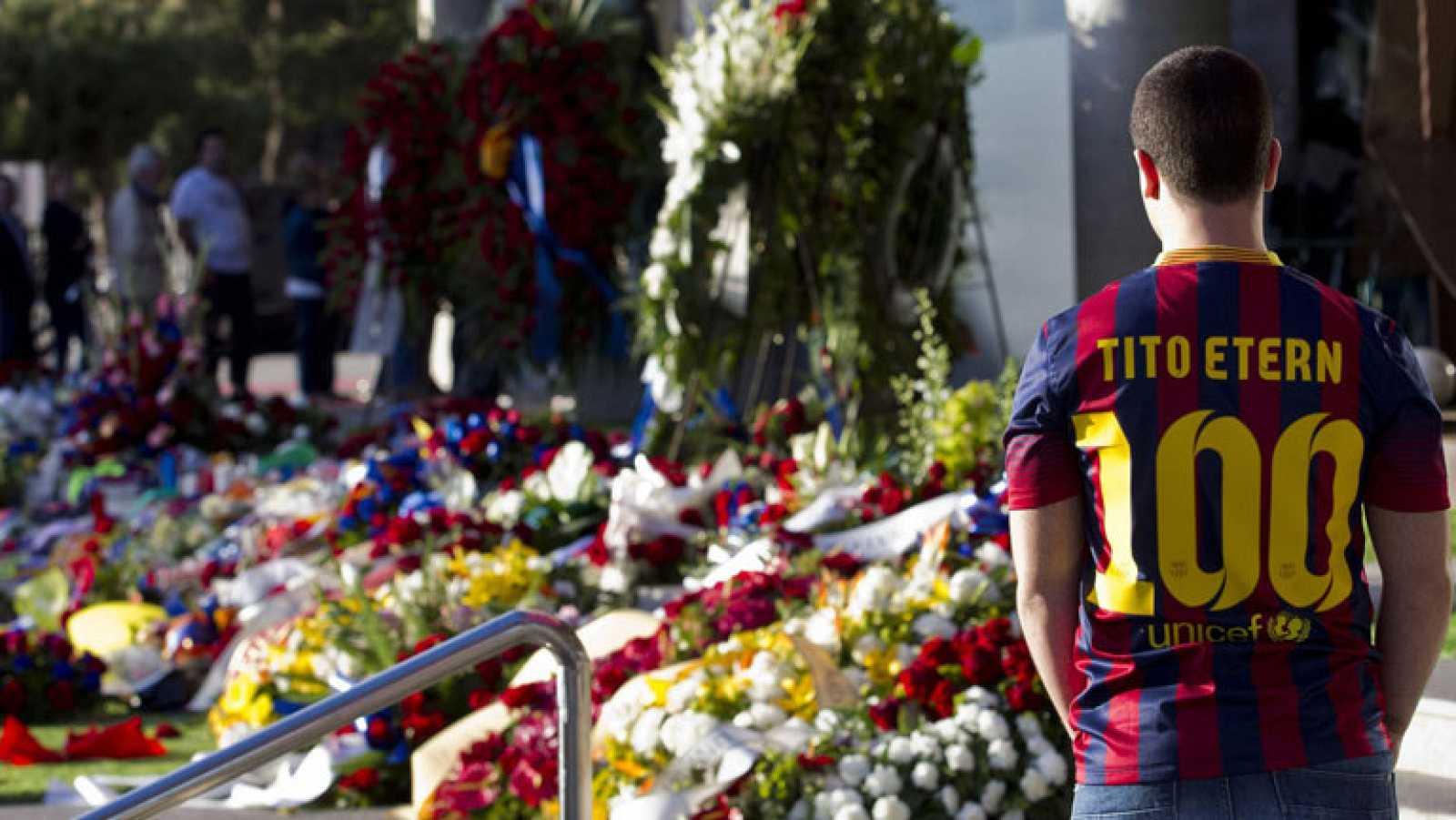 El barcelonismo despide a Tito Vilanova