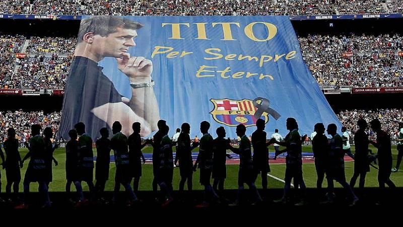 Emotivo último adiós del Barça a Tito Vilanova