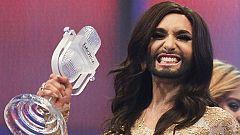 ¡Esta ha sido la reacción de Conchita al enterarse de que era la ganadora de Eurovisión 2014!