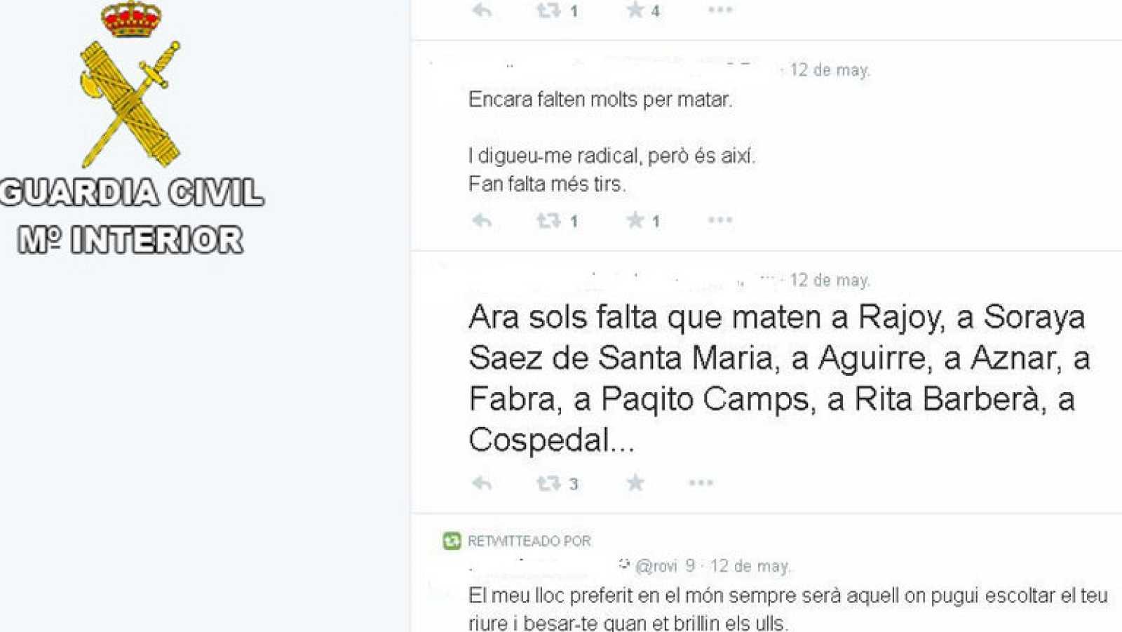 Primer detenido por apoyar el asesinato de Isabel Carrasco y de otros políticos en Twitter