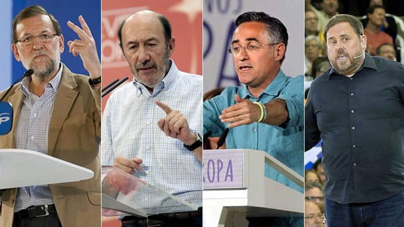"""Rajoy pide un """"no"""" al PSOE y Valenciano un """"no como una casa"""" a la derecha"""