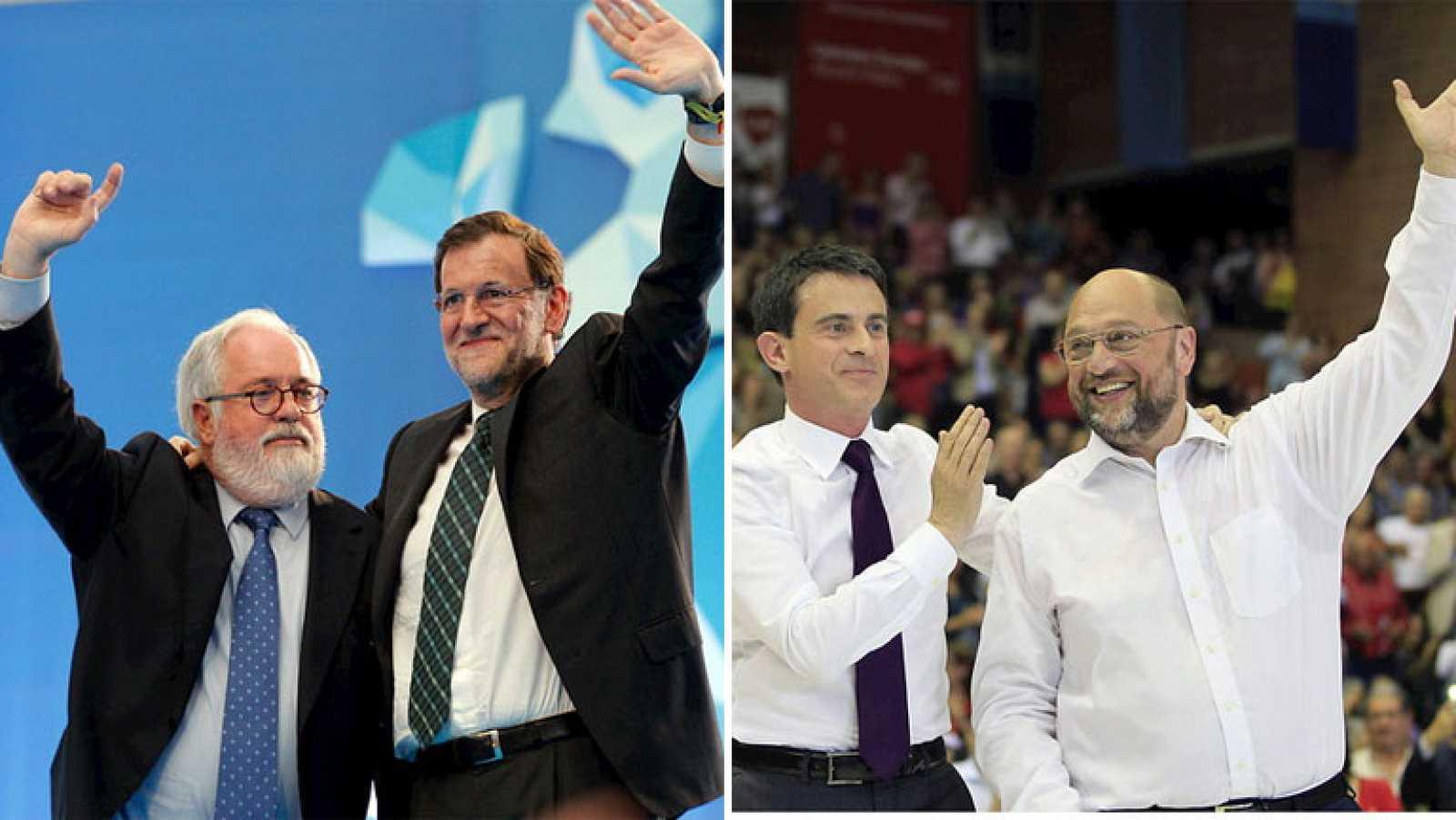 """Rajoy insta al PSOE a """"aprender del fracaso"""" y Schulz pide """"volver"""" a la """"justicia social"""""""