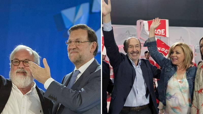 """Rajoy afirma que sacará a España del """"hoyo"""" y Rubalcaba pide """"no dar un cheque en blanco"""" al PP"""