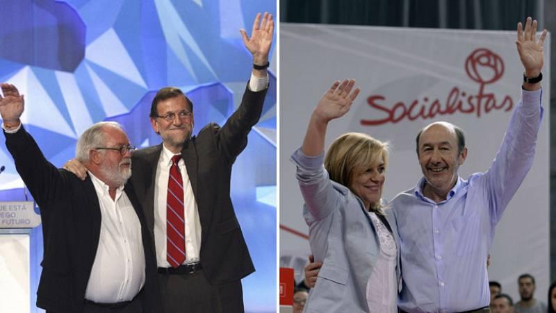 """Rajoy pide """"no tirar por la borda"""" los dos últimos años y Rubalcaba reclama """"un último esfuerzo"""""""
