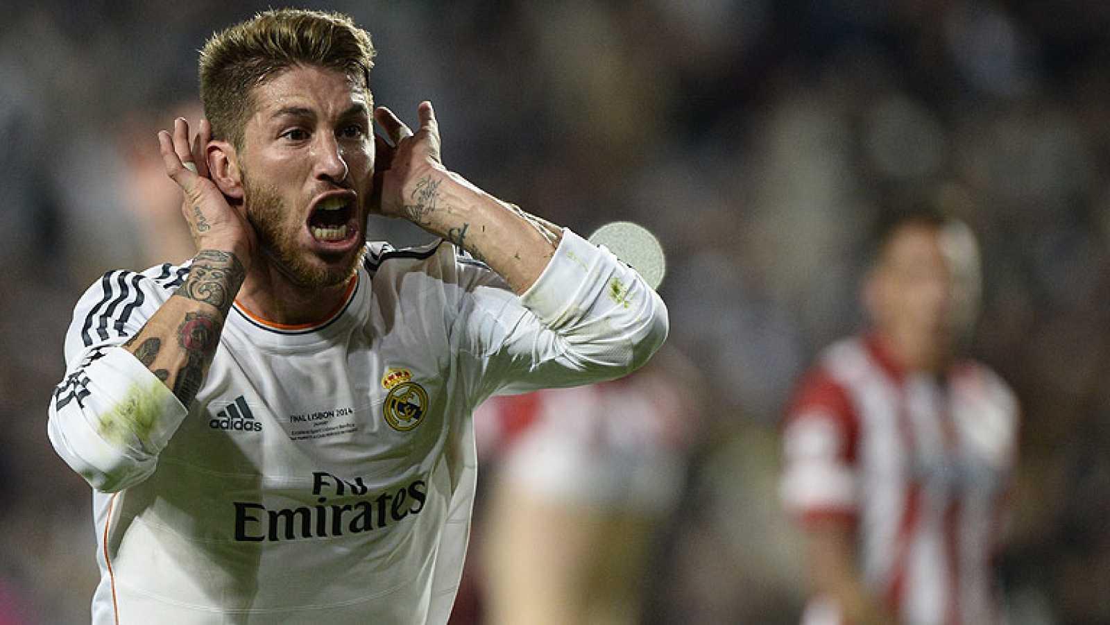 Un gol de Sergio Ramos de cabeza en el minuto 93 ha forzado la prórroga de la final de Champions contra el Atlético de Madrid.
