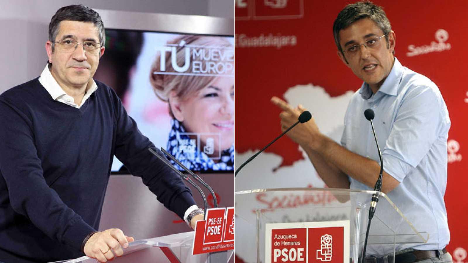 """Patxi López apoya el congreso para """"darle la vuelta"""" al PSOE y Madina defiende las primarias"""