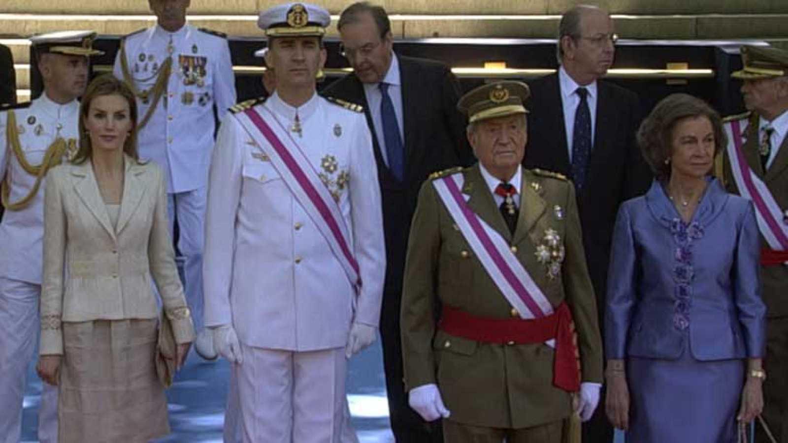 Último desfile del rey Juan Carlos como jefe supremo de las fuerzas Armadas
