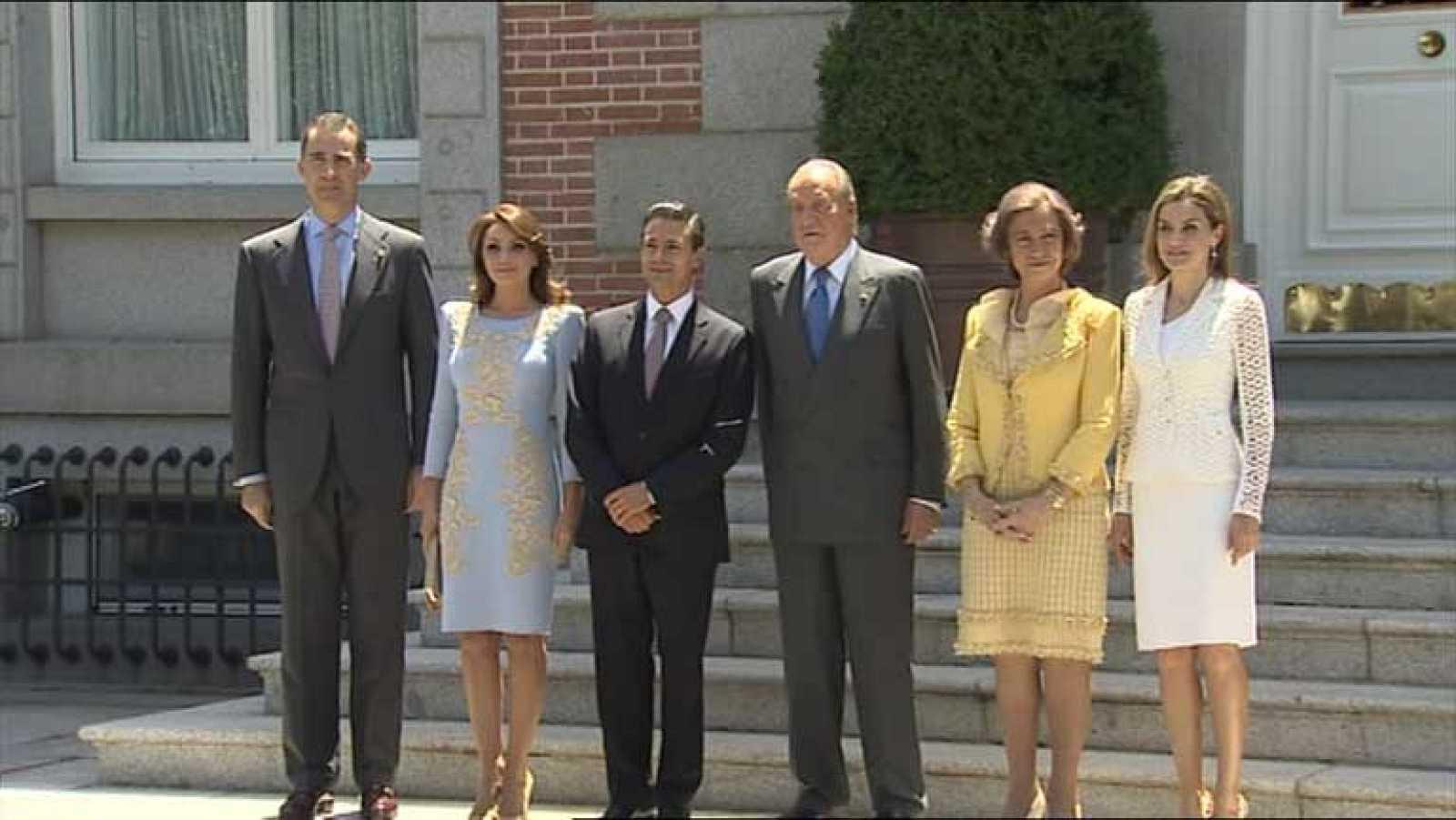 Reyes y Príncipes reciben al presidente de México