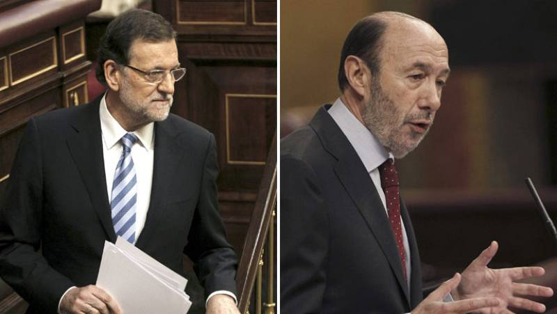 Rajoy y Rubalcaba defienden que no se debate sobre la forma del Estado sino sobre la abdicación