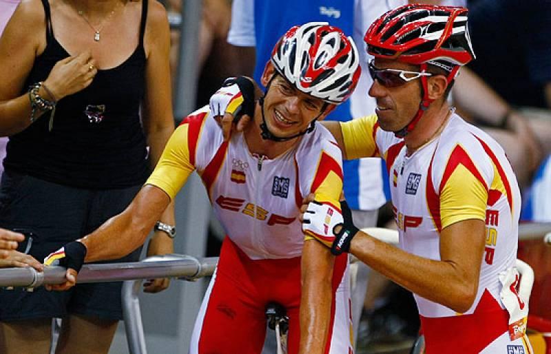 El minuto que les valió la plata a Joan Llaneras y Toni Tauler en ciclismo en pista, modalidad madison.