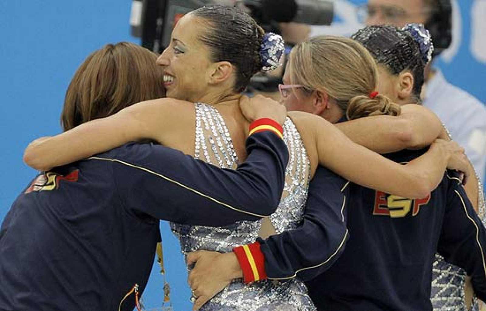 Gemma Mengual y Andrea Fuentes han consguido la medalla de plata con una puntuación de 98,334.