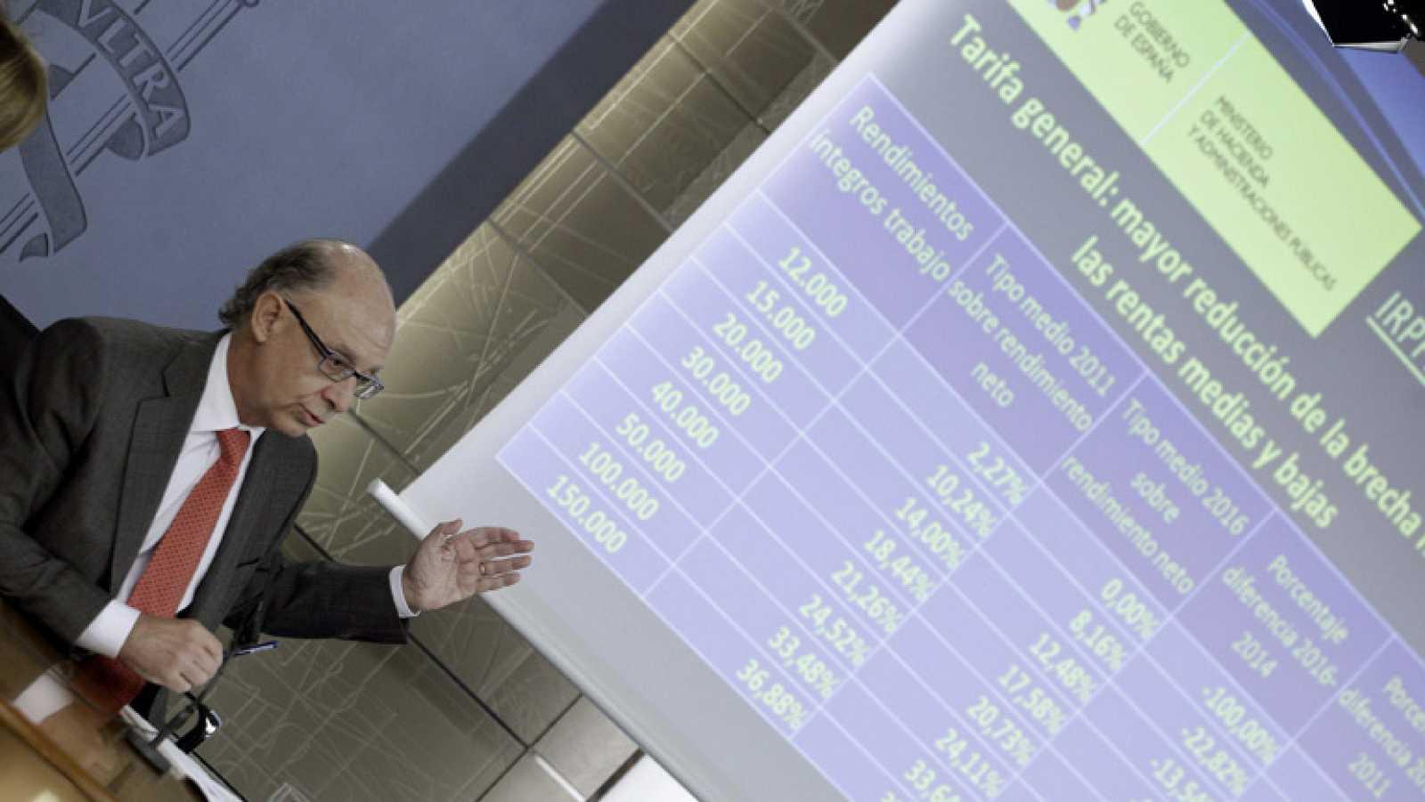 Con la reforma fiscal del Gobierno los tramos del IRPF se reducen de siete a cinco
