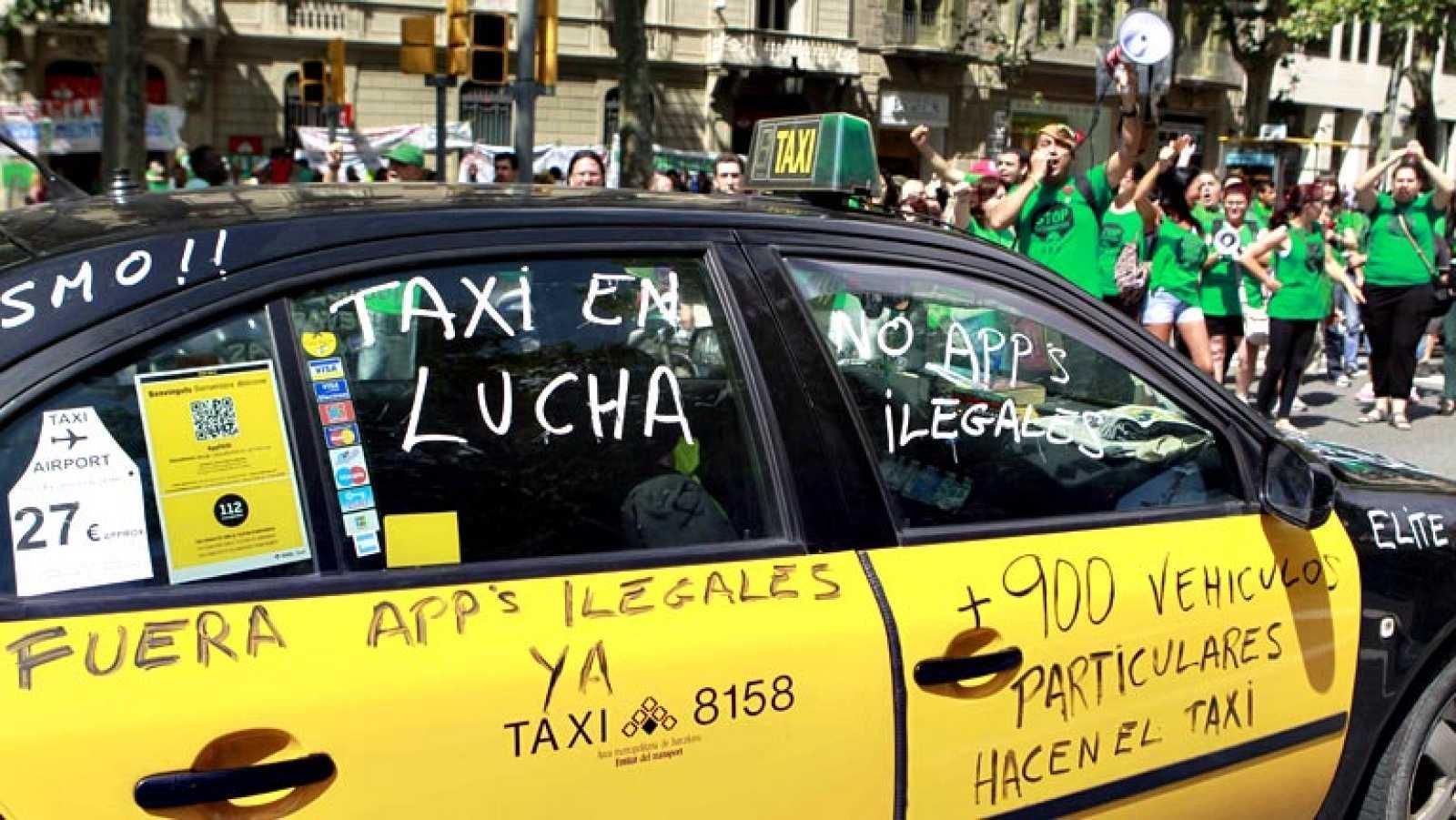 Sin taxis en Barcelona en otra jornada de protestas contra Uber