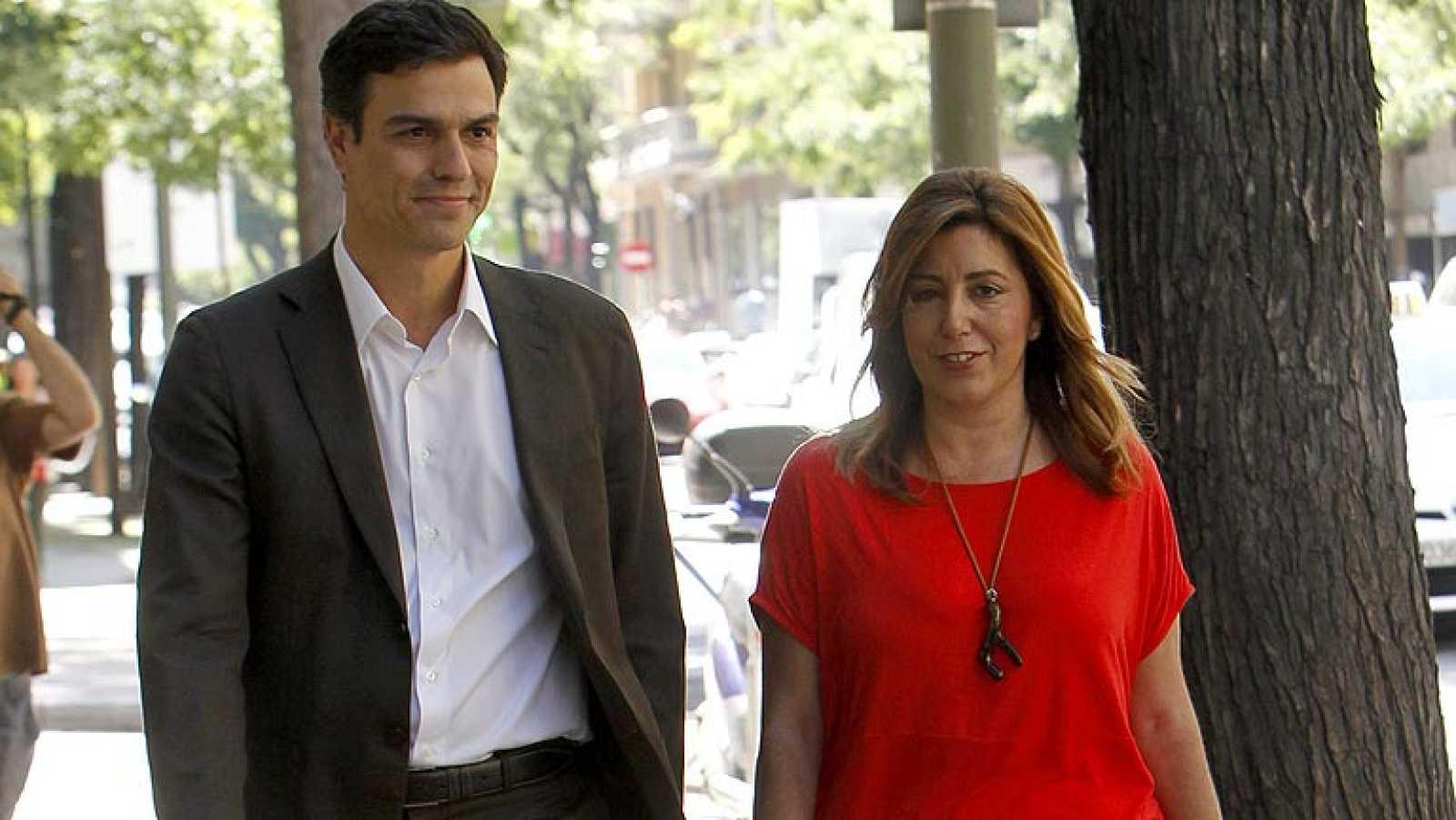 Primer encuentro público de Pedro Sánchez. Ahora toca preparar el Congreso de final de mes