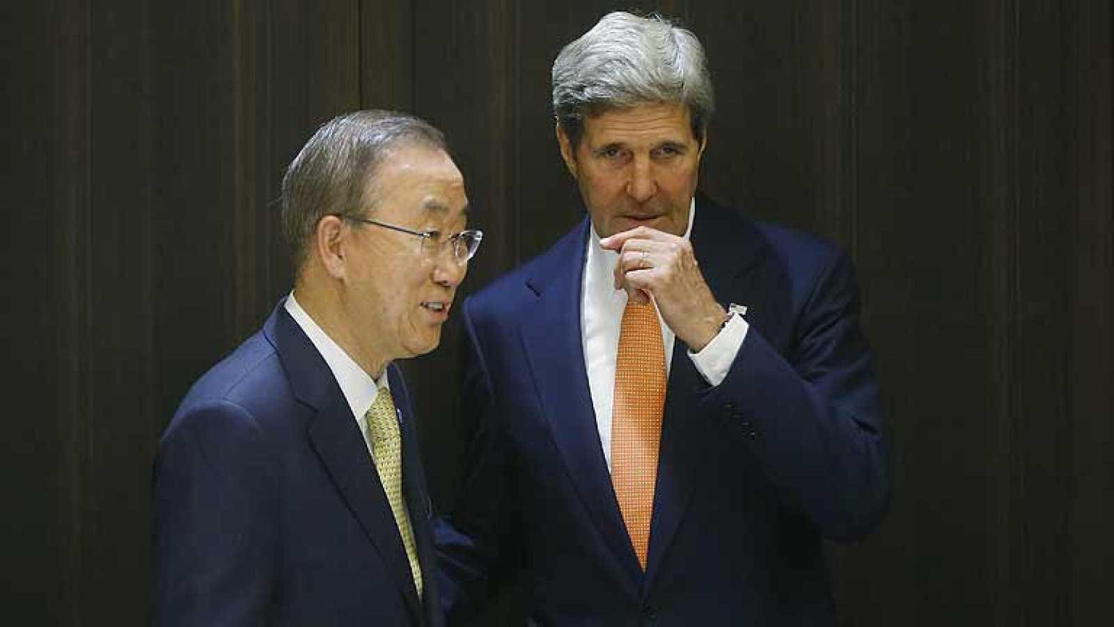 Kerry y Ban Ki-moon negocian en Jerusalén un alto el fuego en Gaza