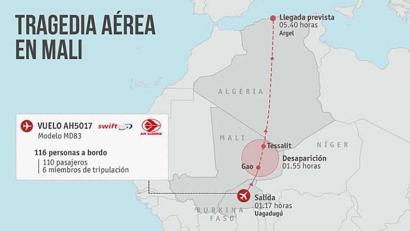 Buscan en Mali un avión desaparecido con 116 personas a bordo, entre ellas seis españoles