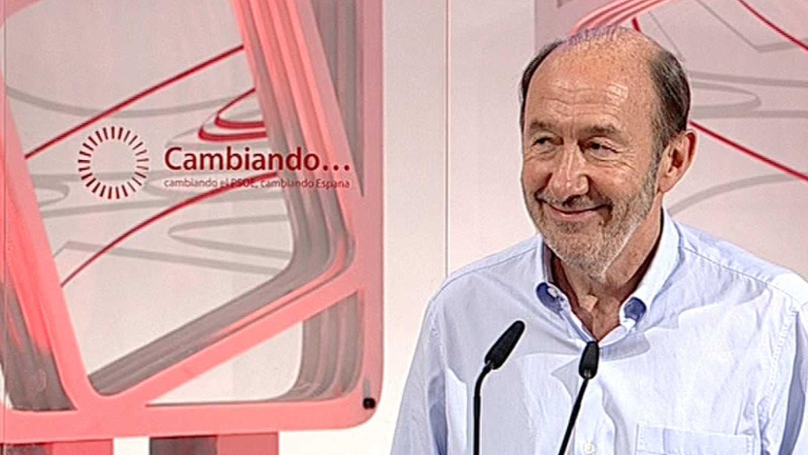 """Rubalcaba a Pedro Sánchez: """"Tienes todo mi apoyo"""""""