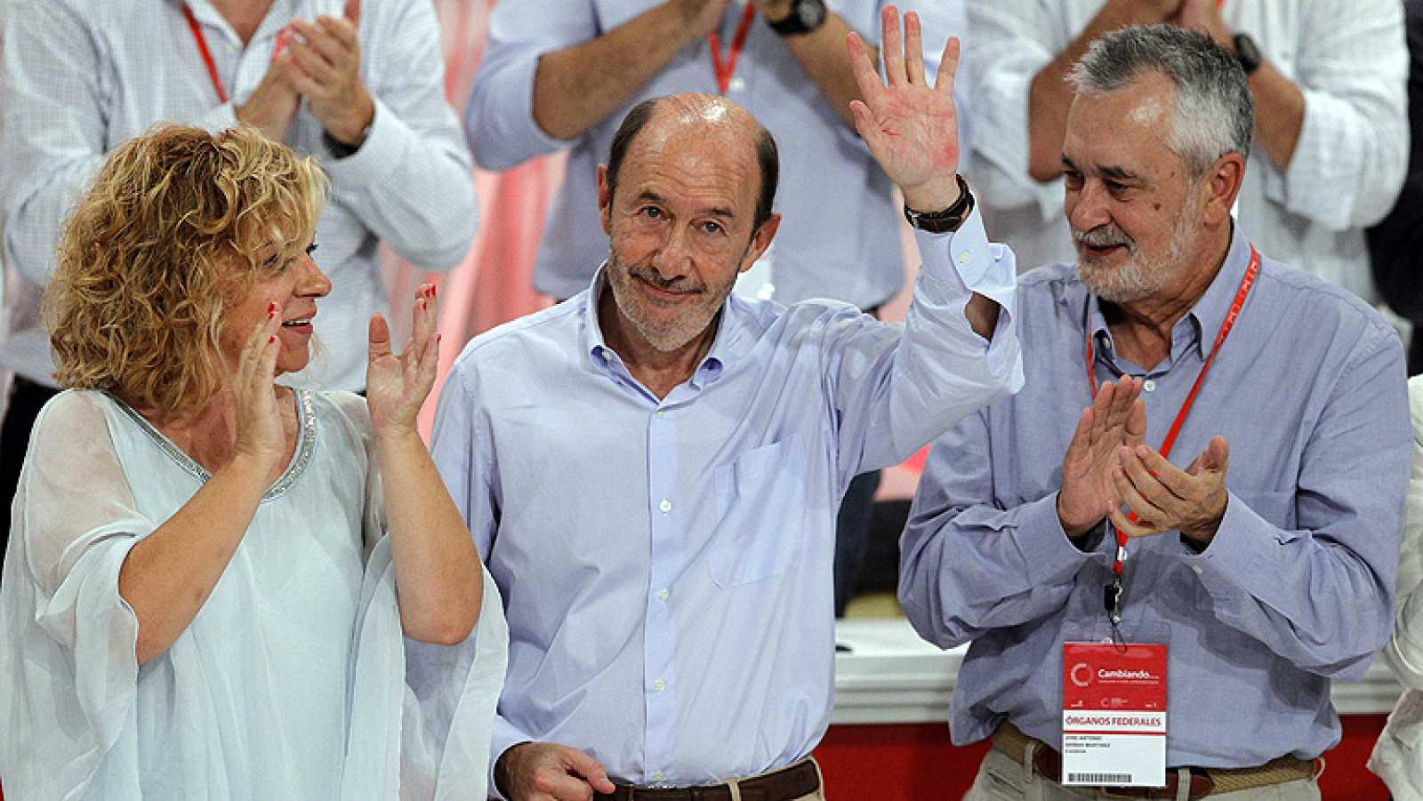 Último acto de Rubalcaba como secretario general del PSOE