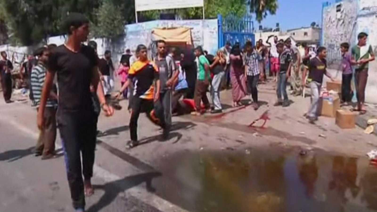 Condena internacional por el bombardeo de otra escuela de la ONU en Gaza
