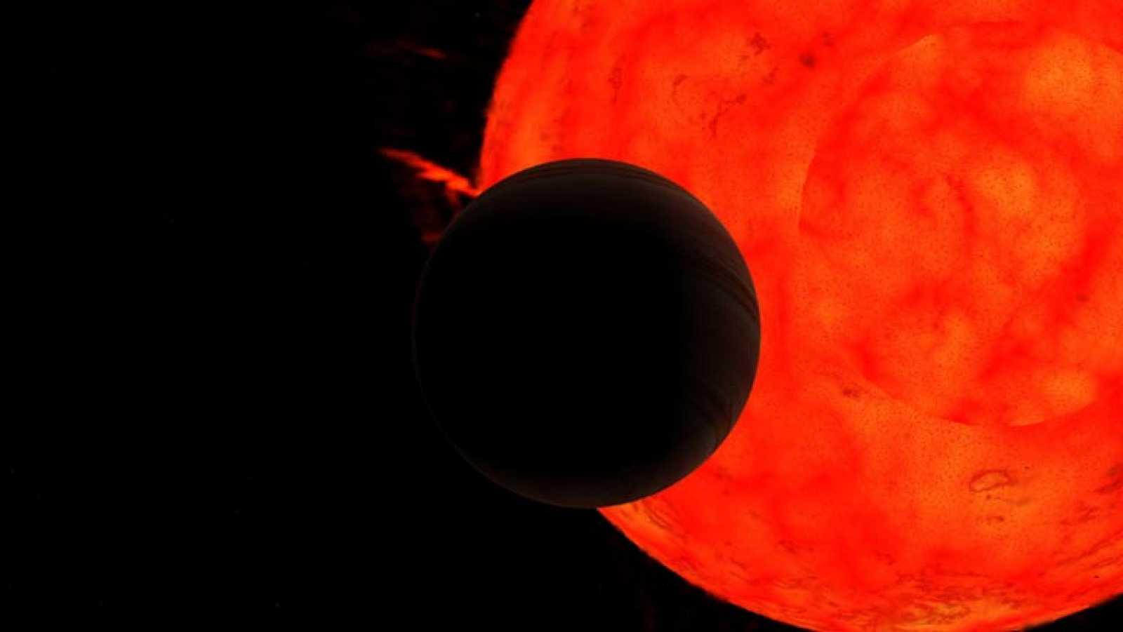 El sistema planetario formado por la estrella gigante roja y el extraplaneta Kepler-91b