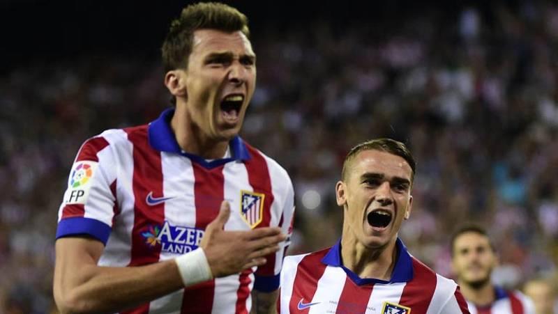 El delantero croata del Atlético de Madrid, Mario Mandzukic, ha marcado el primer gol ante el Real Madrid en el minuto 2 de juego, tras un balón mal despejado por Varane y peinado por Griezmann.