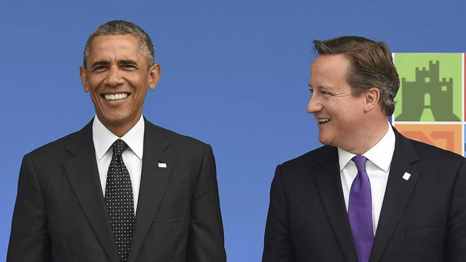"""""""No nos dejaremos acobardar por bárbaros asesinos"""", afirman Obama y Cameron"""