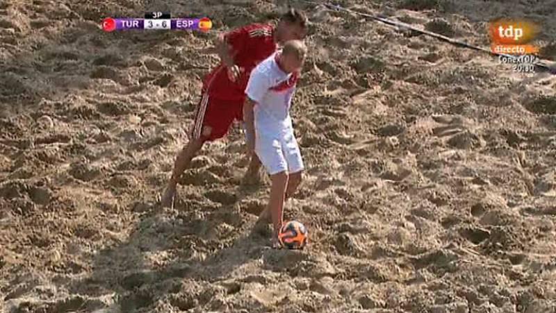 Fútbol playa - Clasificación Campeonato del Mundo zona europea. 2ª Fase. España - Turquía - Desde Jesolo (Italia) - ver ahora