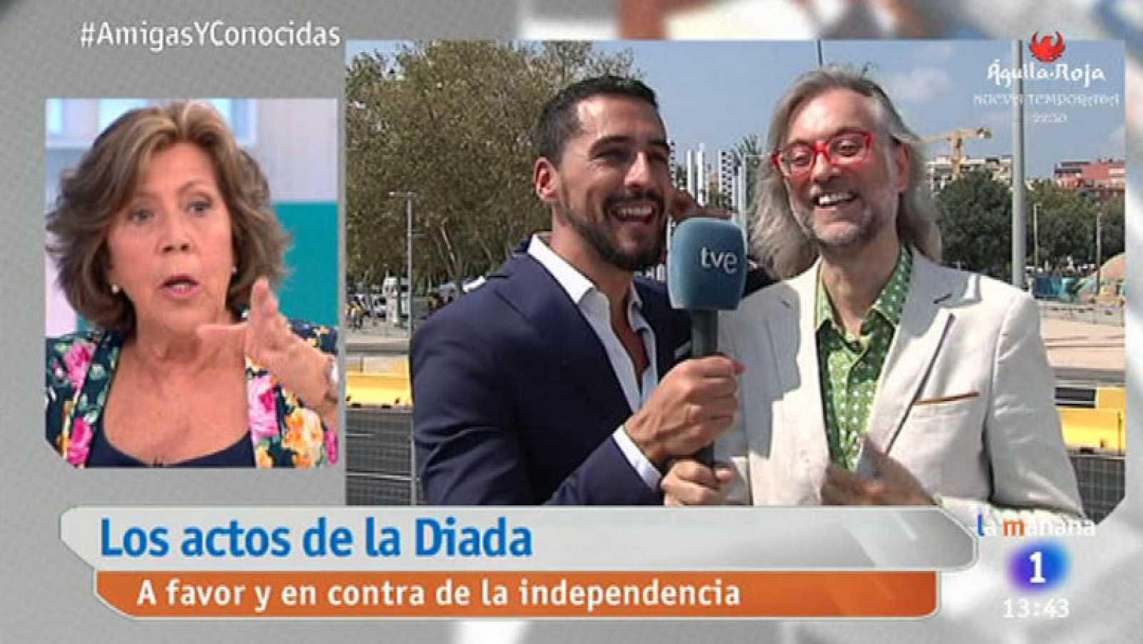 Lo que empezó como una broma terminó en enfado: Curri Valenzuela se enzarza con el periodista catalán Victor Amela (La Vanguardia) y el analista político Francesc Soler al hablar sobre los actos de conmemoración de la Diada.