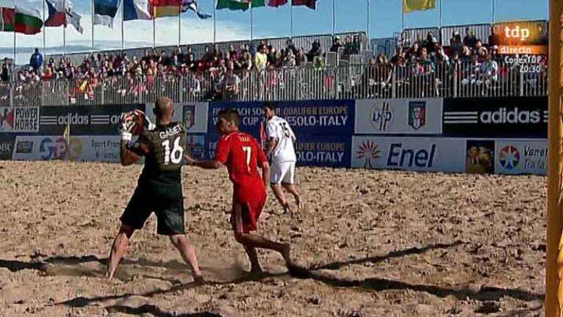 Fútbol playa - Clasificación Campeonato del Mundo. Zona europea. 2ª Fase. España - Francia - Desde Jesolo (Italia) - ver ahora