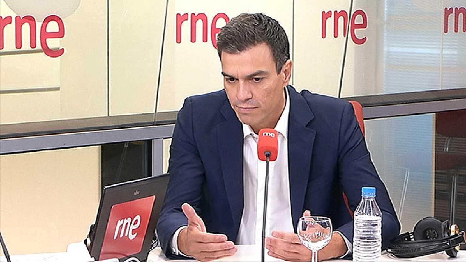 """Pedro Sánchez: """"Se tiene que abrir un espacio de centralidad en Cataluña"""""""