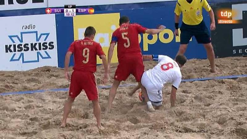 Fútbol playa - Clasificación Campeonato del Mundo. Zona europea. 1ª semifinal. Suiza - España - Desde Jesolo (Italia) - ver ahora