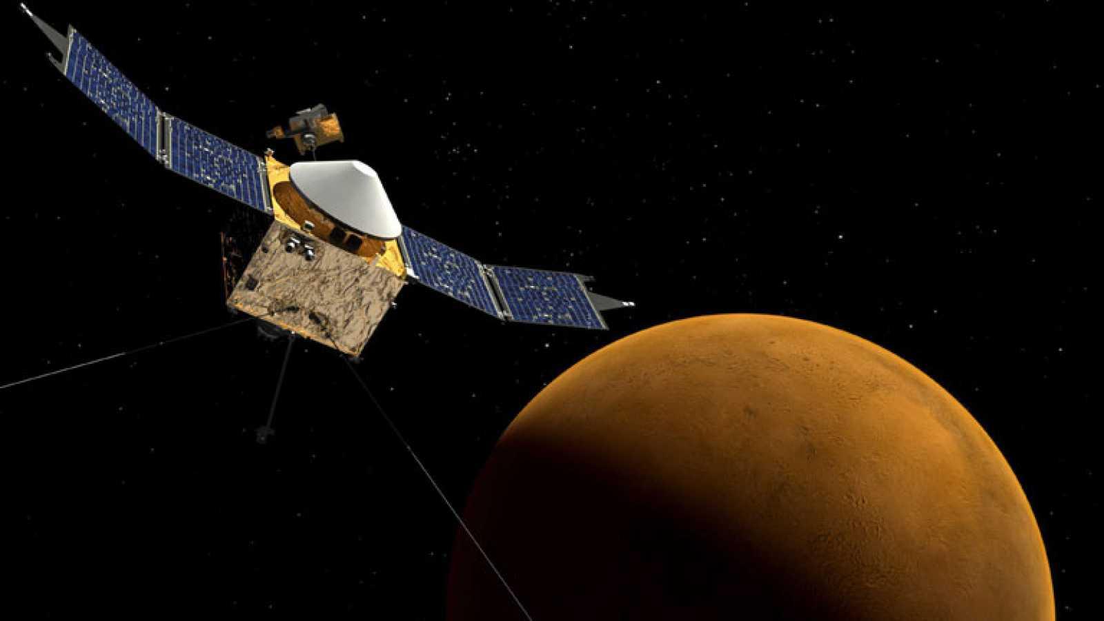 La sonda MAVEN entra en la órbita de Marte para estudiar la atmósfera del planeta