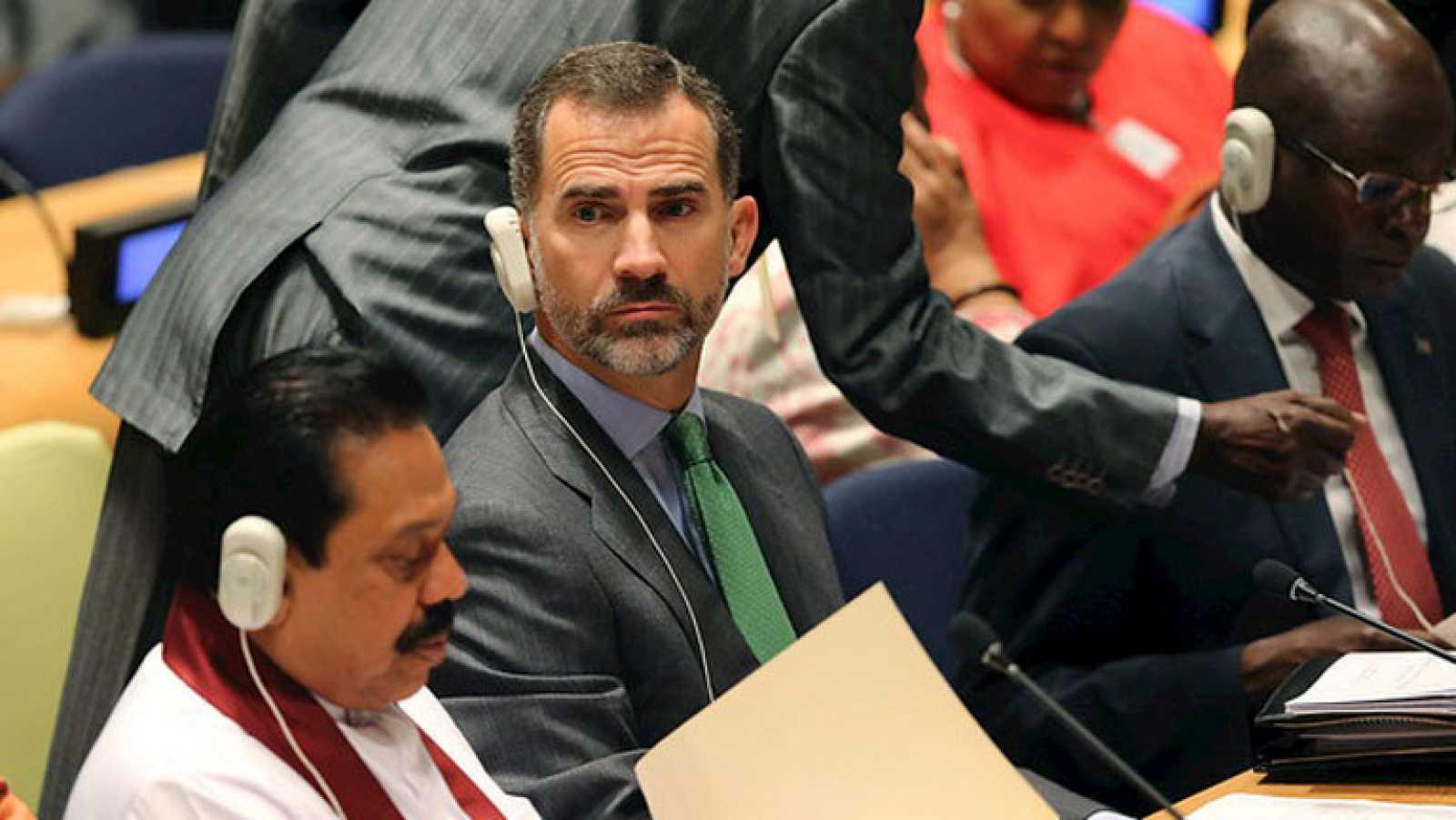Felipe VI se reúne con Obama tras intervenir en la ONU en Nueva York