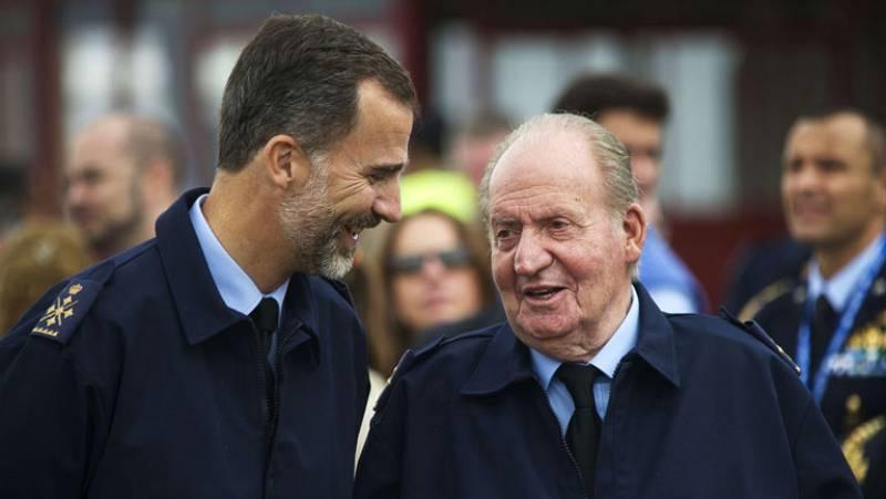 Los reyes Felipe VI y Juan Carlos I han asistido al Festival Aéreo de Torrejón