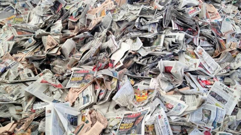 En el corazón del reciclaje de papel