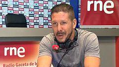 """Simeone en RNE: """"Vivo siempre al límite"""""""