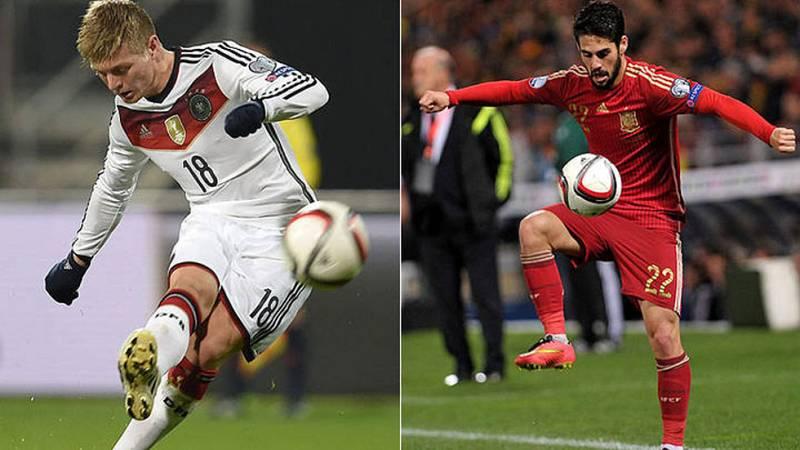 España y Alemania se miden en Balaídos como los dos últimos campeones del mundo. Los germanos, con muchas bajas, se enfrentan a una España en pleno proceso de renovación, con Isco a la cabeza.