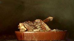 Cabrito asado en horno de leña