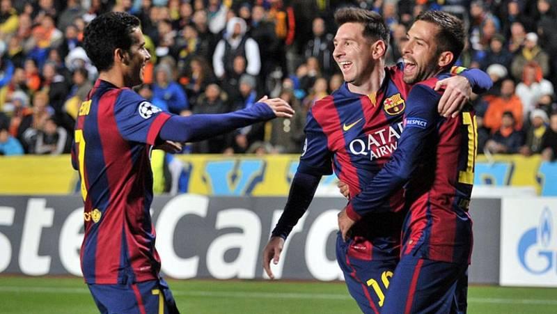 Messi lidera la victoria del Barça ante el Apoel