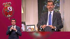 Mensaje de Navidad de Su Majestad el Rey de 2014, en lengua de signos