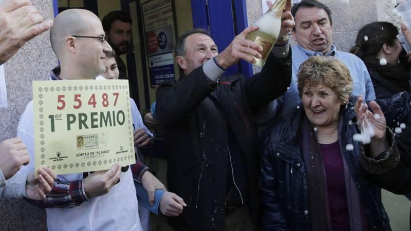 El primer premio de la lotería del Niño, el 55.487, vendido en Leganés, administración 4