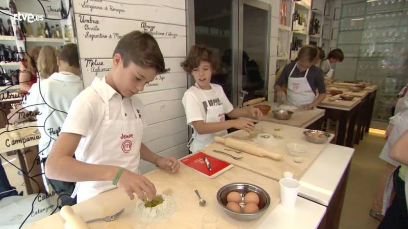 MasterChef Junior 2 - Clase de pasta y pizza