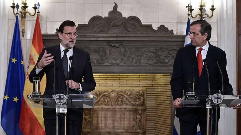 Rajoy habla en Grecia de la recuperación económica, del posible adelanto en Cataluña y del auge de partidos populistas