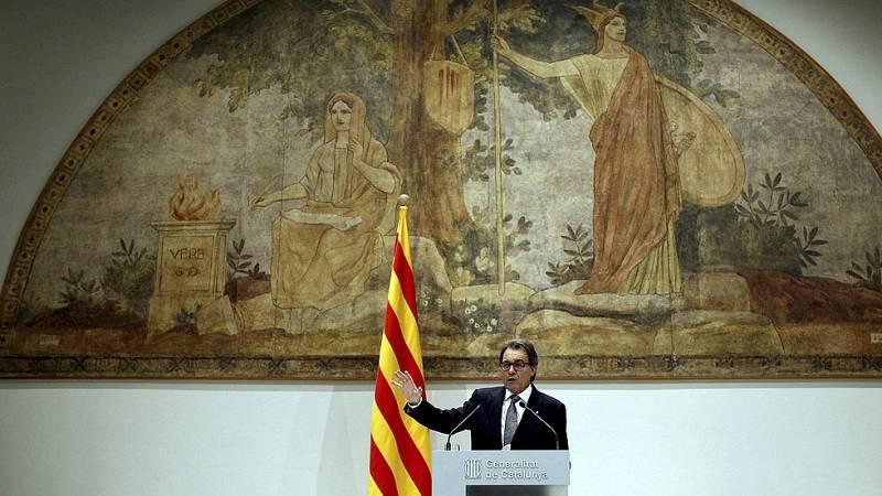 Los partidos catalanes analizan el adelanto electoral pactado por Mas y Junqueras