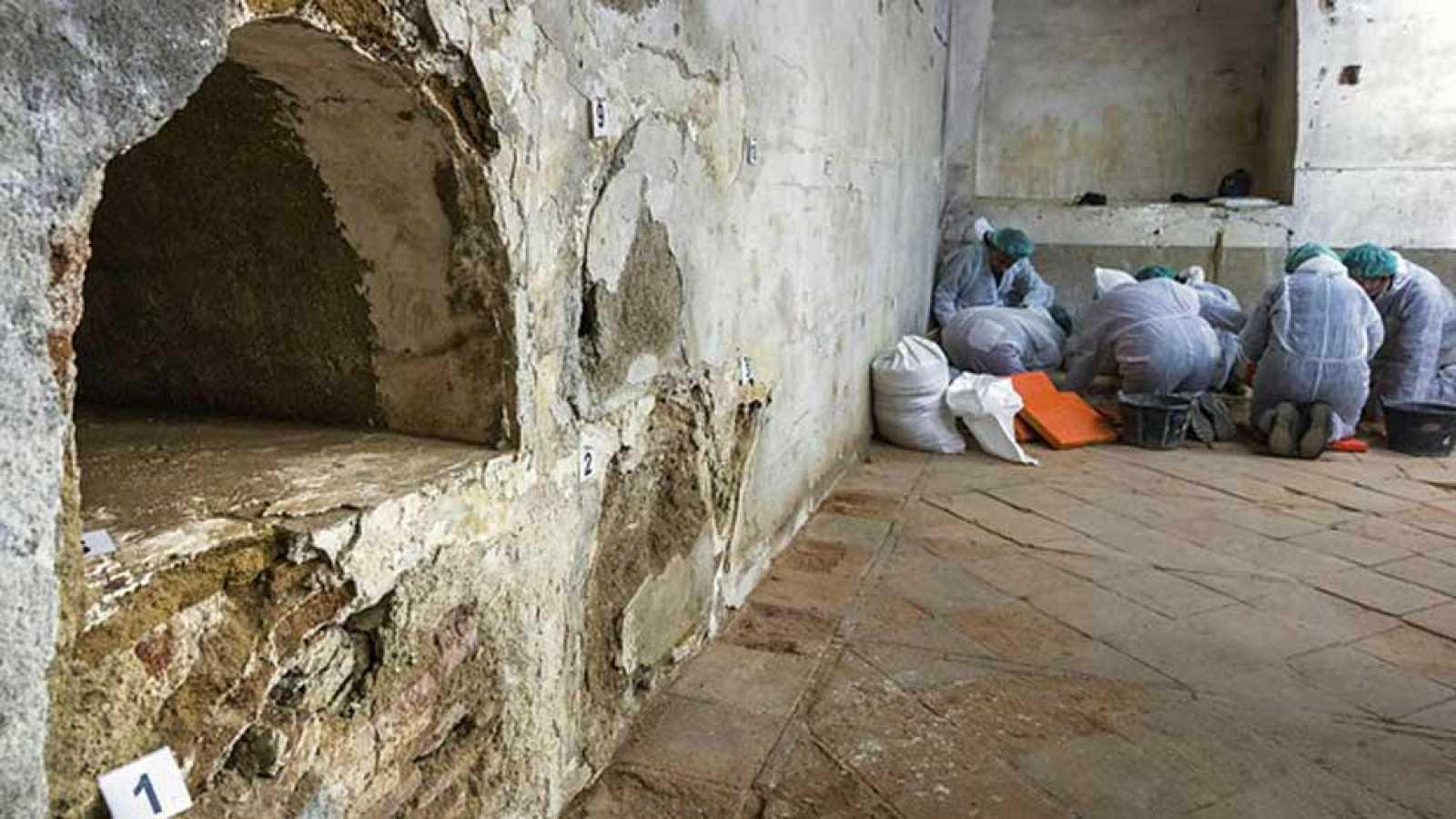 Los primeros huesos encontrados en la iglesia de las Trinitarias, no se corresponden con los de Miguel de Cervantes