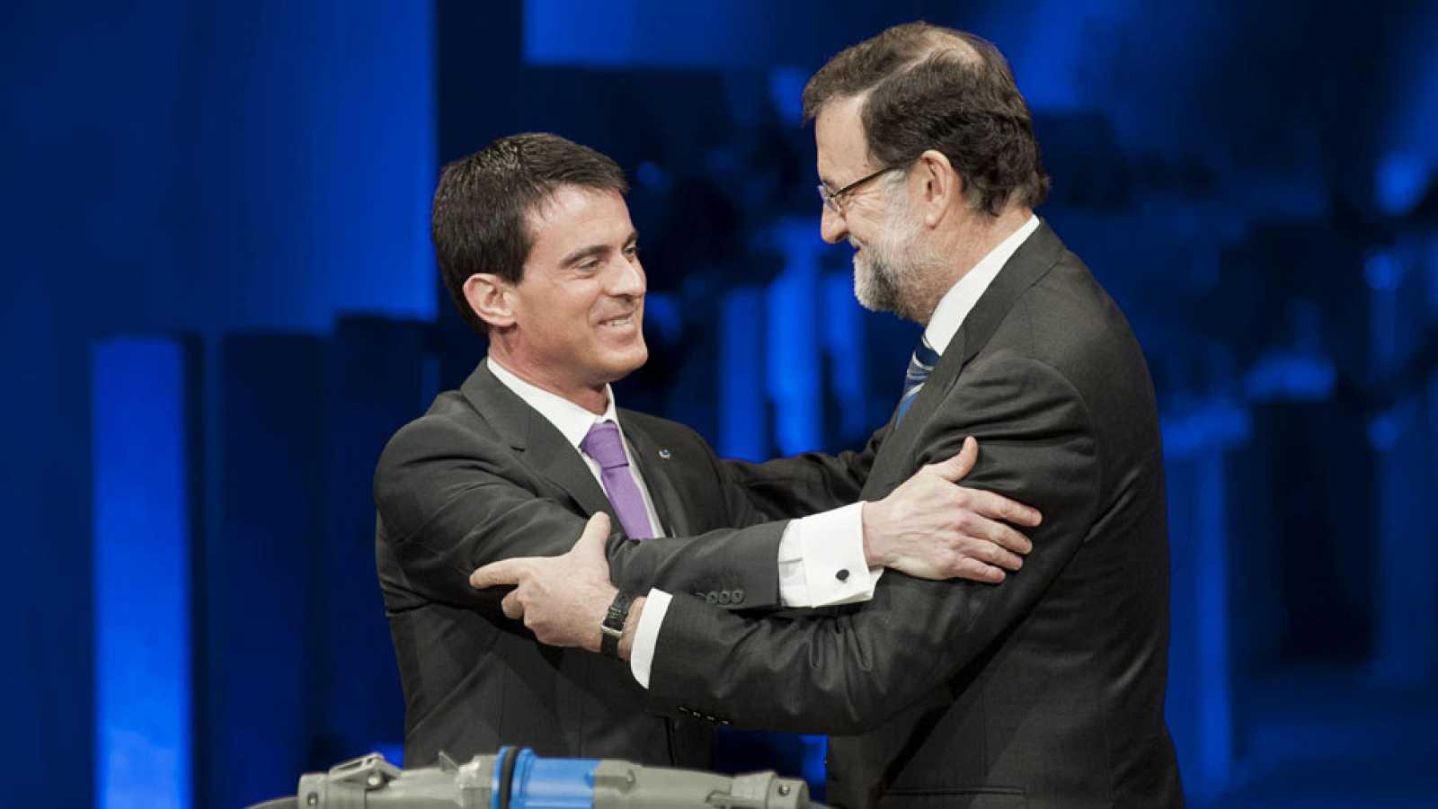 Rajoy y Valls inauguran la línea soterrada más larga del mundo que une Figueras y Perpiñán