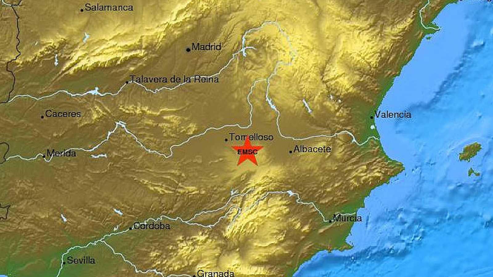 Un terremoto con epicentro en Albacete se siente en gran parte de España