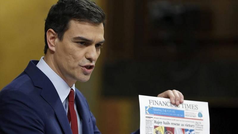 """Pedro Sánchez rebate a Rajoy: """"España fue rescatada por la pésima gestión que hicieron ustedes de Bankia"""""""