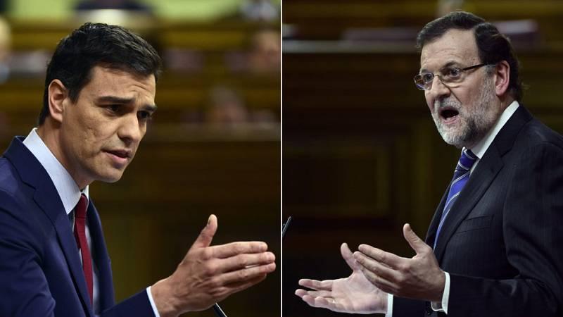 """Sánchez y Rajoy se enfrentan duramente por los ERE y Bárcenas y rechazan """"lecciones"""" del otro"""