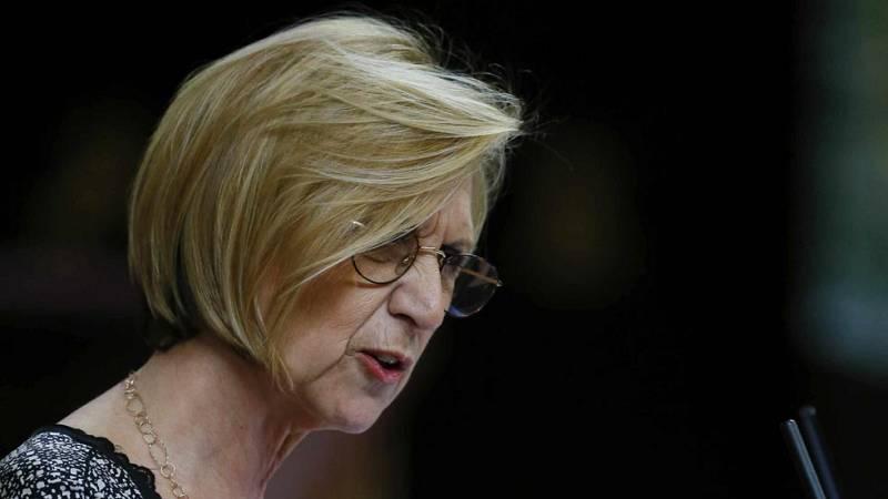 Rosa Díez acusa a Rajoy de mentir al explicar la financiación del PP